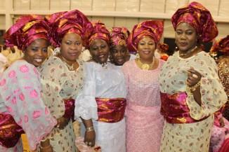 Alhaja Salami, Alhaja Mudirat, Alhaja Taiwo, and other Nigerian Islamic Association attendees