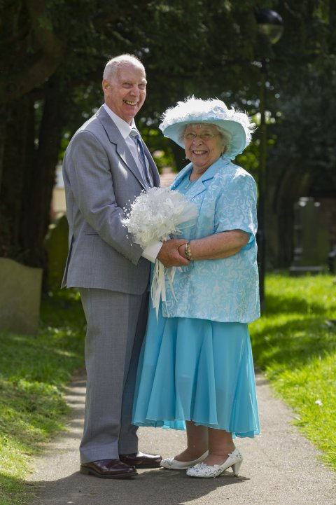After a 44-year relationship, couple in their 80s finally walk down the aisle