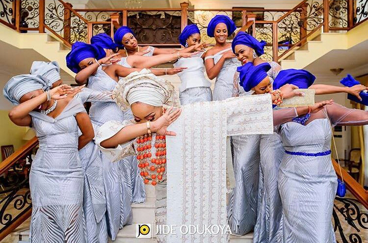 Coco Adeleke and Caleb Adaji Glamour Wedding